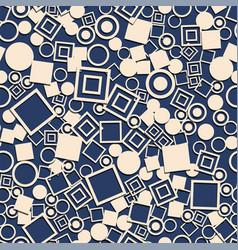 Abstract circles squares seamless pattern vector