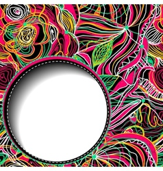 Abstract floral background with space for text vector