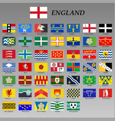 All flags england regions vector