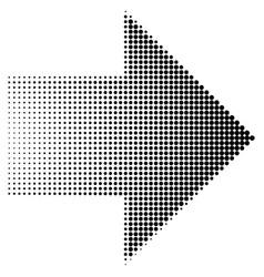 arrow halftone dots eps 10 vector image
