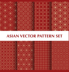 Asian abstract pattern pack vector