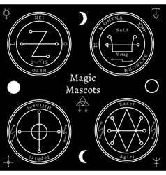 Astrological talismans set vector