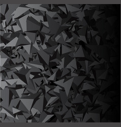 Background with gray 3d triangles vector