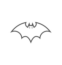 bat related thin line icon vector image
