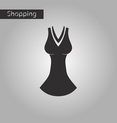 Black and white style icon dress vector