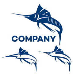 Blue marlin logo vector