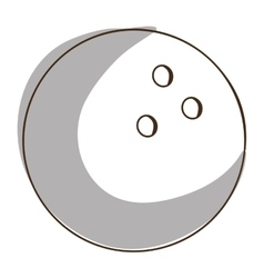 bowling ball icon image vector image