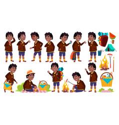 boy schoolboy kid poses set primary school vector image