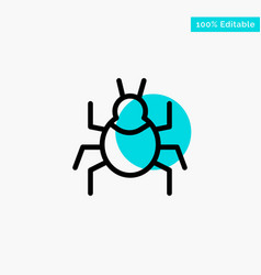 Bug nature virus indian turquoise highlight vector