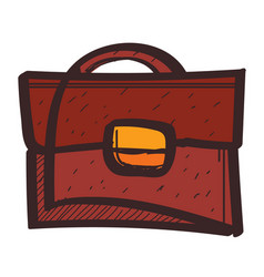 business briefcase colored button with a black vector image