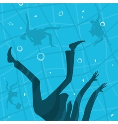 business people drown in water vector image