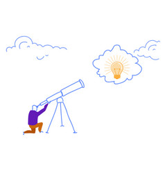 businessman looking binocular business idea light vector image