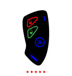 Car key and of the alarm system icon flat style vector