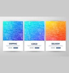Cargo flyer concepts vector