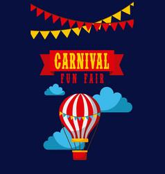Carnival fun fair entertaiment festival vector