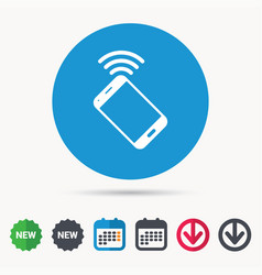 Cellphone icon mobile phone communication vector