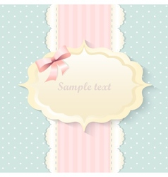 Classic romantic invitation design pink vector