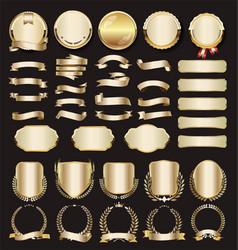 Collection luxury golden design elements vector