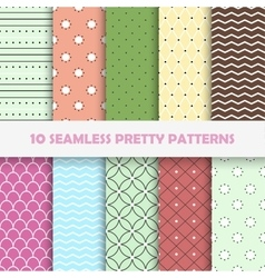 Color seamless patterns vector image