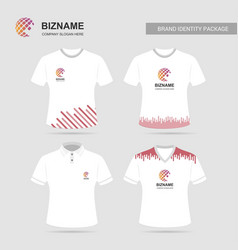 company advertisment t-shirts with logo and slogan vector image