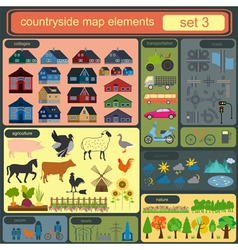 Contryside map elements vector