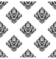 Damask-style arabesque seamless pattern vector