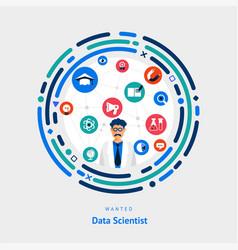 Data scientist vector