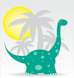 Dinosaurs and palms vector