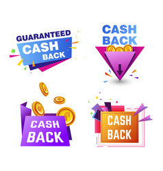 discount cash back service shopping and finance vector image