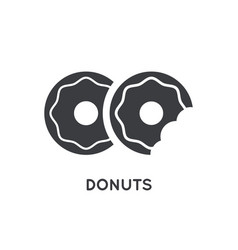 donuts with glaze topping element or glyph icon vector image