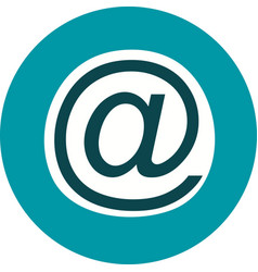 email address icon vector image