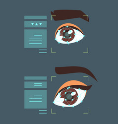 eye biometric identification vector image