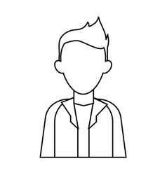 Faceless young man icon image vector