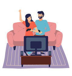 family weekend couple man and woman spend time vector image