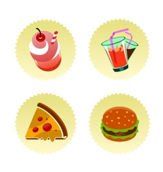 fast food set two vector image