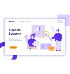 Finance and business strategy web banner vector