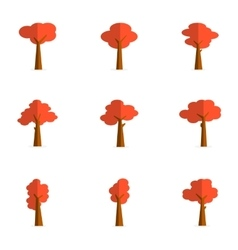 Flat of red tree vector