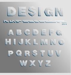 font pixels vector image