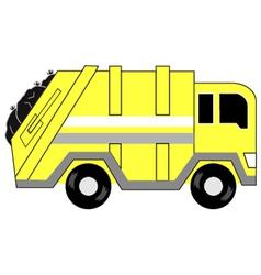 Garbage truck cartoon vector