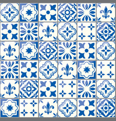 Geometric tiles pattern portuguese vector