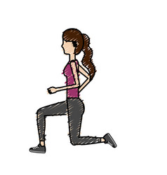 healthy woman doing exercise vector image