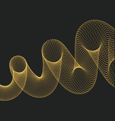 helix molecular lattice 3d vector image
