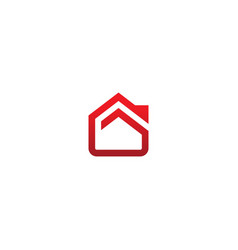 house realty abstract line company logo vector image