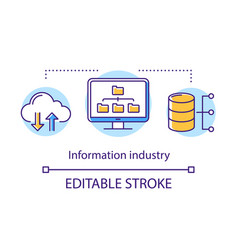 information industry concept icon collecting vector image