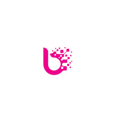 initial b digital logo icon technology vector image
