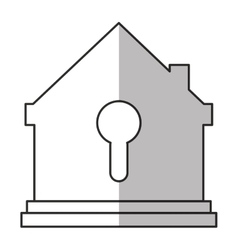 Isolated house and key design vector