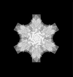 isolated painted snowflakes vector image
