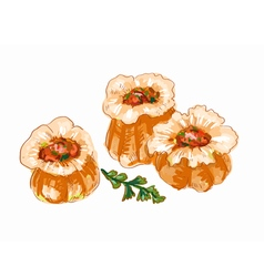 Jiaozuo Chinese dumplings pr vector image