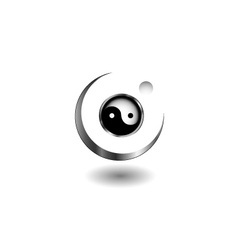 Logo concept with yin and yang symbol vector