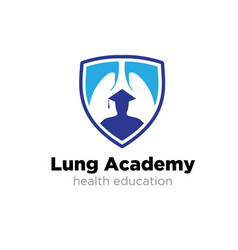 Lung academy logo designs simple modern vector